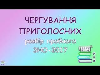 6. ЧЕРГУВАННЯ ПРИГОЛОСНИХ || Розбір пробного ЗНО-2017 || ВРГД