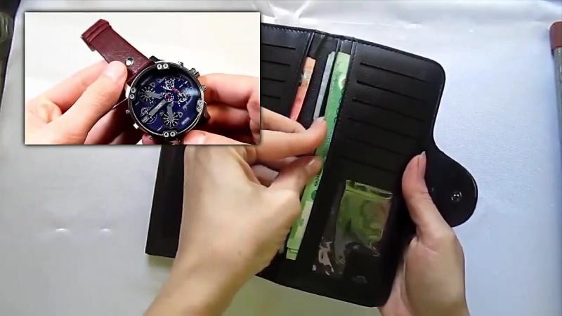 Мужское портмоне Hugo Boss стильные часы Diesel Brave в подарок