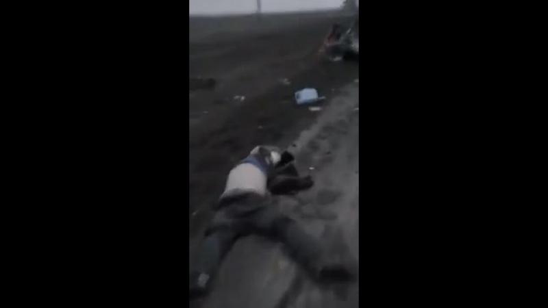 18 Слабонервным не ! Видео с места ДТП в Темрюкском районе