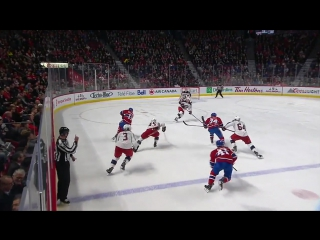 Sergei Bobrovsky slides over and robs Brendan Gallagher with blocker