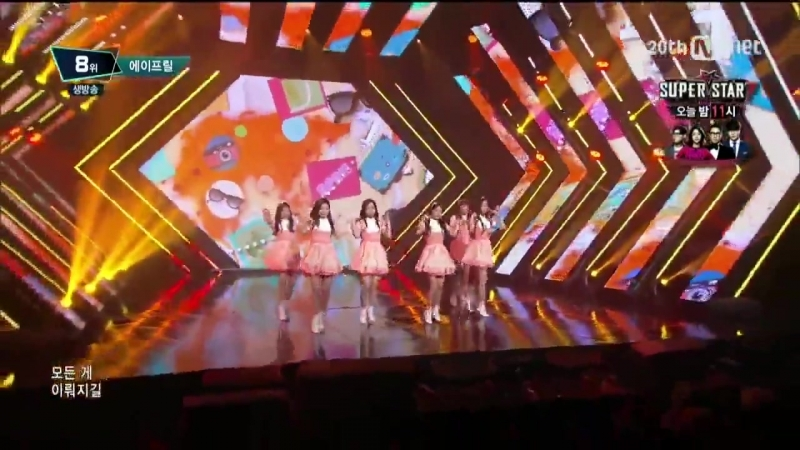 151001 APRIL (에이프릴) - Dream Candy (꿈사탕) @ 엠카운트다운 M! Countdown