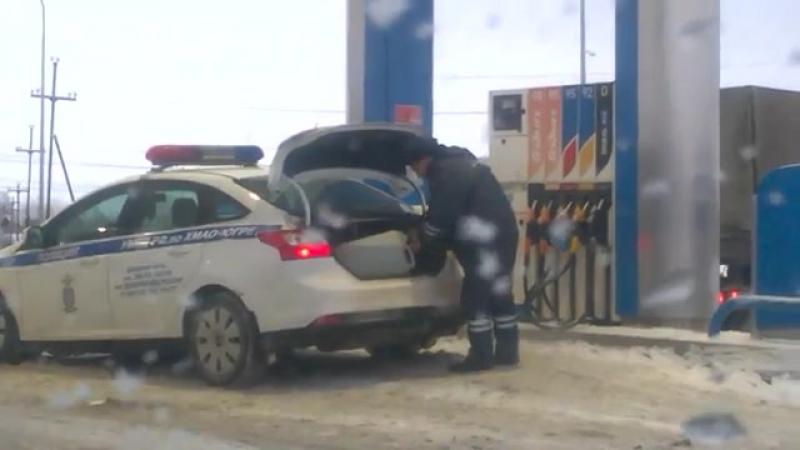 Гаишники нефтеюганска заправляются по полной