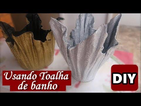 TRANSFORME TOALHA DE BANHO EM VASO DE FLOR