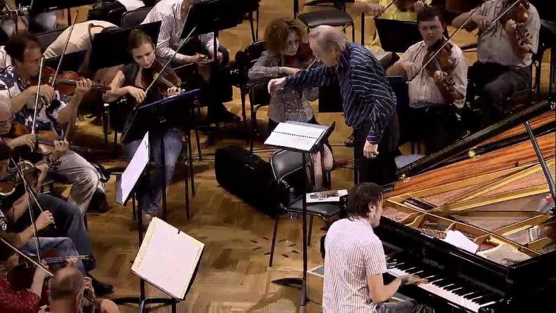 Шопен. Концерт №1 для фортепиано с оркестром, часть вторая. Солист Даниил Трифонов, дирижёр Александр Дмитриев (репетиция, 2011)