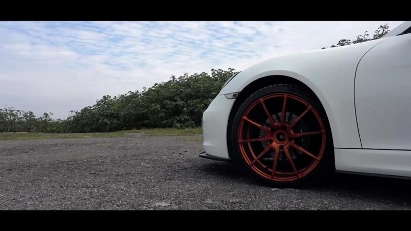 Porsche 981 Cayman w⁄ TWL Carbon Fiber Aero Kits ARMYTRIX Exhaust