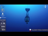 Gold medal freedive with fins to 126m, Alexey Molchanov, AIDA WC 2017.