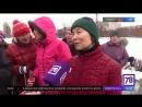 Инструктор Александра Везо и ее группа на мероприятии в Пулковском парке