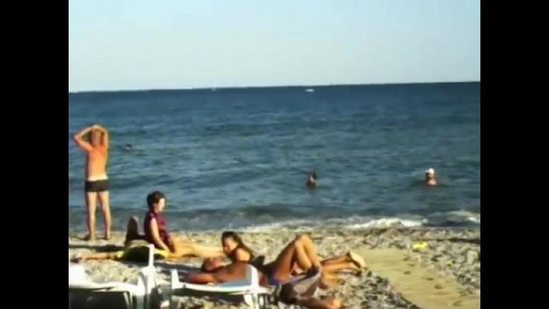 Вечерний отдых на пляже 21 08 2013 Коктебель