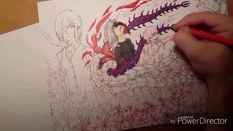 Speed drawing - Tokyo ghoul my art