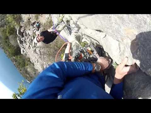 Выезд секции альпинизма СШ№7 на тренировку на скалы Куш-Каи.