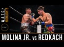 Molina Jr vs Redkach HIGHLIGHTS December 15 2017 PBC on FS1