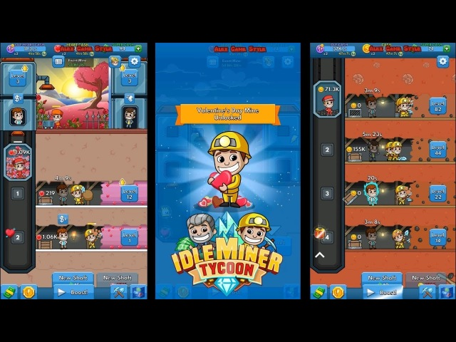Idle Miner Tycoon (EN) - Event of the Valentine's Day || Become an industrial tycoon (Android)