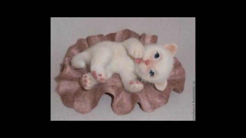 Чудесные, забавные валяные игрушки из шерсти