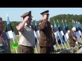 Ветераны СС встретились на северо-востоке Эстонии, где шли бои во время ВОВ (2014) - Синимяэ, памятник 20 дивизии СС, Омакайтсе