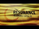 Yellow Corporate Flag of Resonance Capital in Design Style