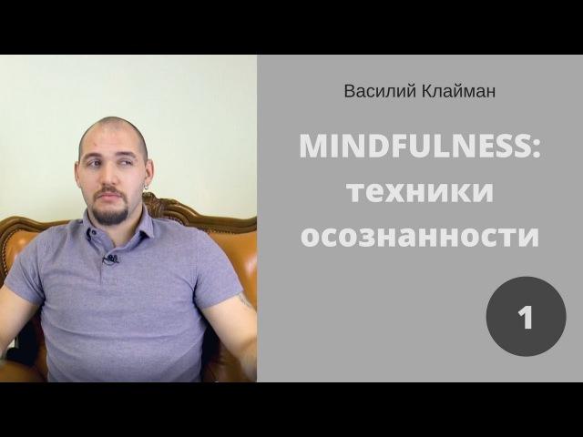 Mindfulness: техники осознанности. 1. Василий Клайман