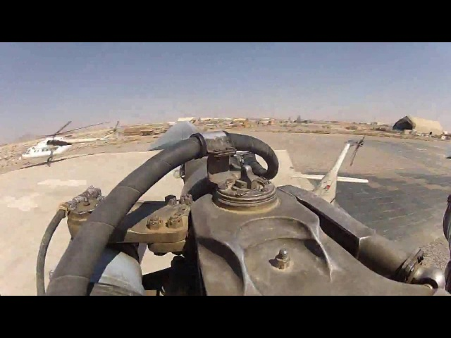 Ми-8 Редкие кадры. Работа лопасти в полете, полная версия.