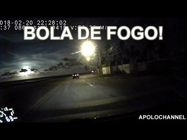 Meteoro cruza a Bahia e explode sobre o oceano Atlântico