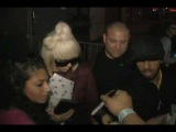 Lady GaGa - Leaving From Concert Meet And Greet Fans