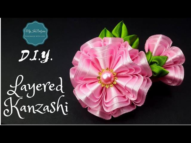 D.I.Y. Layered Kanzashi Hairclip | MyInDulzens