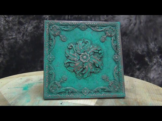 Cold Cast Bronze Tutorial Mint green patina