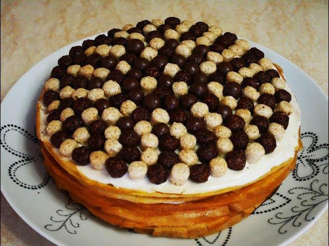 Блинный ТОРТ с БАНАНАМИ рецепт торта рецепт блинов ВКУСНЯТИНА со вкусом БАНАНА