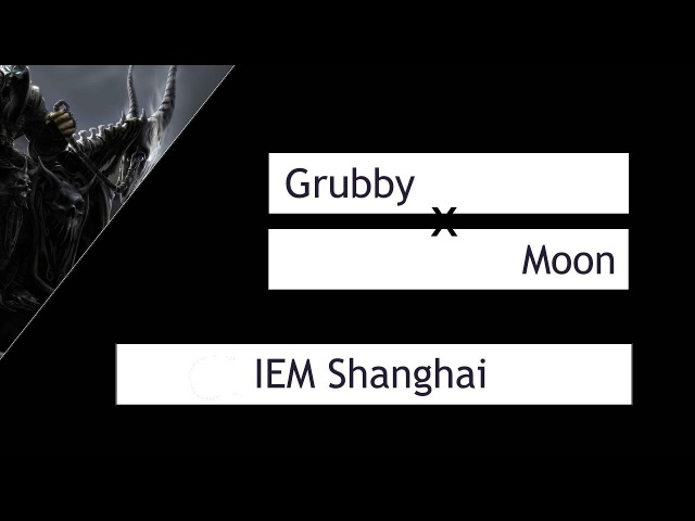 WC3: Grubby (Orc) vs. Moon (Night Elf) [IEM Shanghai G2] | Warcraft 3