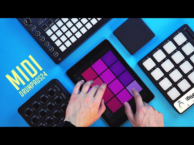 Use Any Controller With Drum Pads 24 - Midi Fighter Lightpad Block Novation Circuit iRig Pads