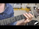 Bluegrass Flatpicking Guitar Lesson Licks in Key of G C and D