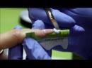 Наращивание ногтей. Белый френч. Акрил