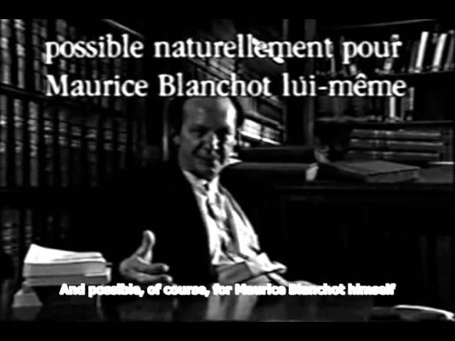 Giorgio Agamben on Maurice Blanchot (English Subs)