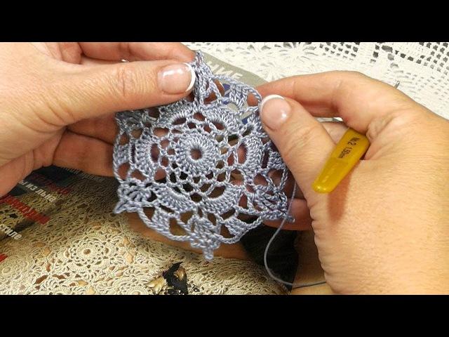 МК Как вязать мотив motif крючком 1 часть