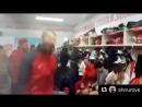 Российская сборная празднует культурно