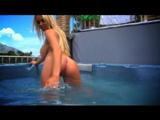 hot Blonde Cara Brett in bath wet