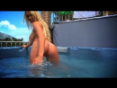 hot Blonde Cara Brett in bath wet