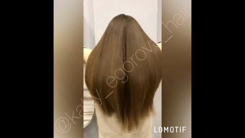 Кератиновое лечение волос. Мастер Егорова Екатерина