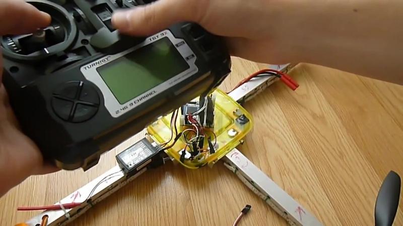 Квадрокоптер. Connection to controller Crius AIOP 2.0 receiver, UBEC, Speed Controller ESC
