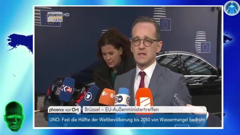 Heiko Maas der ( KPD ) Zwerg - Grandios beim ersten EU Außenministertreffen