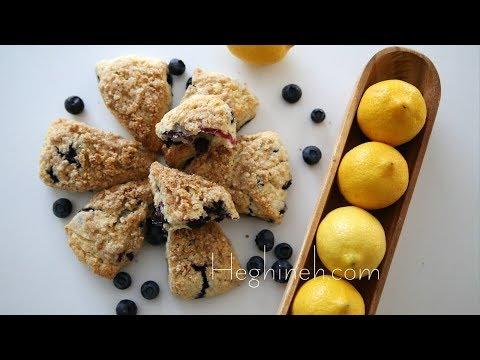 Հապալասով Կիտրոնով Սկոն - Blueberry Lemon Scones Recipe - Heghineh Cooking Show