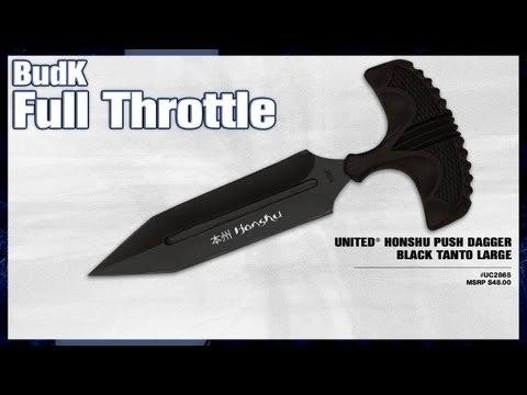 United® Honshu Push Dagger Black Tanto Large - $28.99