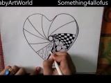 Дудл как нарисовать дудлинг сердечко зентагл