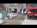 Талдыкорган. Зимой кладут асфальт. 12 декабря. 2017 год. Минус 8 градусов мороза.