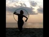 Танец с обручем на пляже Жонглеров