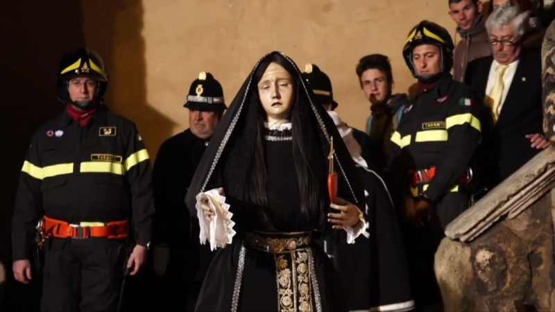 Riti Settimana Santa Taranto su TRM network la Processione dellAddolorata