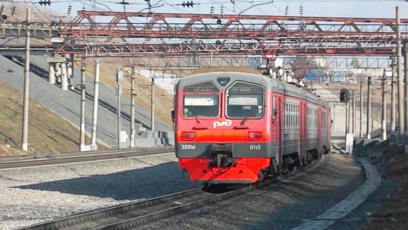 Электропоезд-коротышка ЭД9М-0113