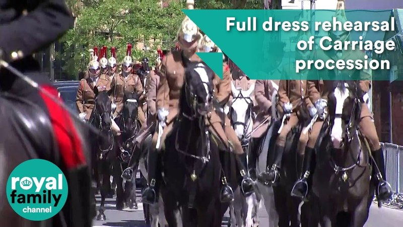 Full dress rehearsal of Carriage procession for Royal Wedding