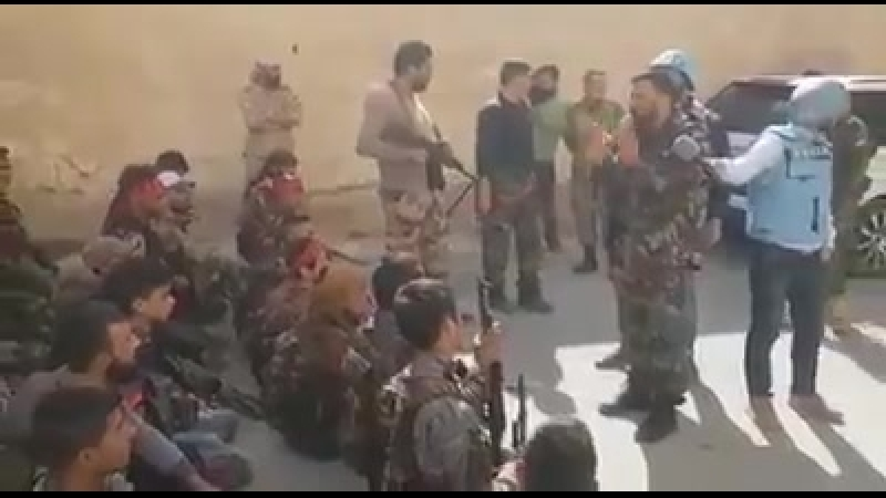 Заместитель командующего Лива Аль-Кудс Аднан Ас-Сейид встретился с героями одного из отрядов Лива Аль-Кудс в Восточной Гуте