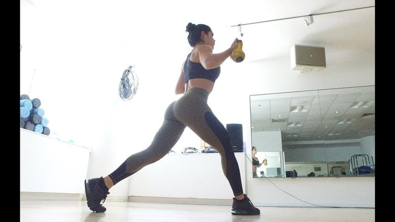 MICHELLE LEWIN Workout: Kettlebells and Free Weights