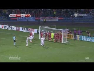 Армения 0:3 Польша   Дубль Левандовски