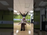 My mom trains this 93 year old